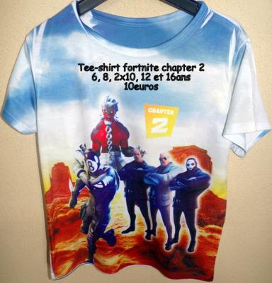 Tee-shirt fortnite hello disney