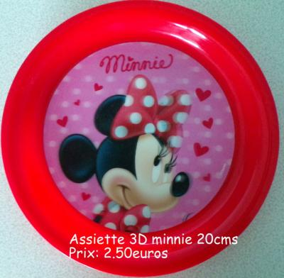 Assiette 3D minnie hello disney