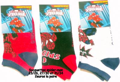Socquettes spider-man hello disney