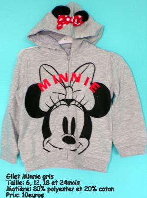 Gilet minnie hello disney