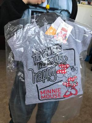 Tee-shirt minnie hello disney