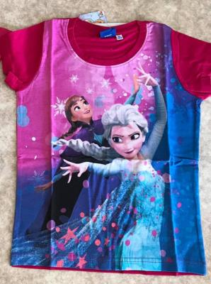 Tee-shirt la reine des neiges hello disney