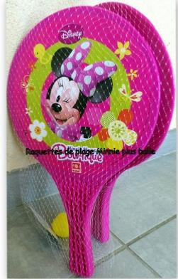 Raquettes de plage Minnie hello disney
