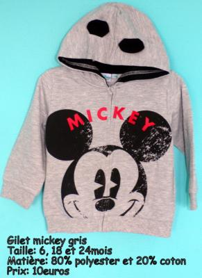 Gilet mickey hello disney