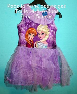 Robe la reine des neiges hello disney
