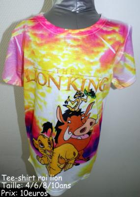 Tee-shirt le roi lion hello disney