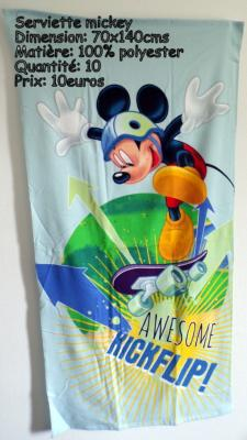 Serviette mickey hello disney