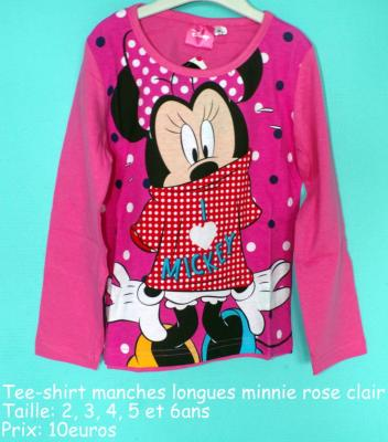 Tee-shirt manches longues minnie hello disney